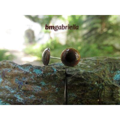 Cseppecske barna - tűzzománc bedugós fülbevaló