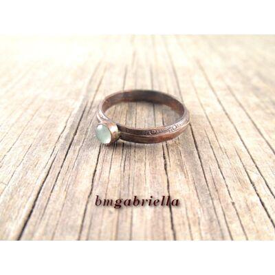 Csendes tó - vörösréz gyűrű aventurinnal