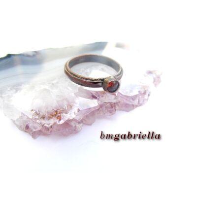 Küprisz borostyánja - vörösréz gyűrű