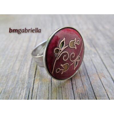 Ölelkezők - tűzzománc gyűrű