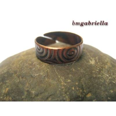 Andromakhé gyűrűje -  kézműves ékszer - vörösréz gyűrű