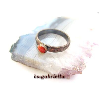 Korall emlék - vörösréz gyűrű