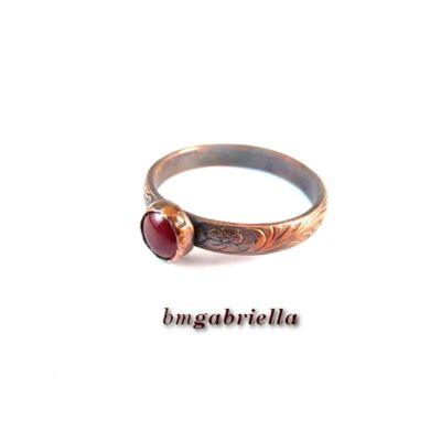 Óvörös  - réz gyűrű