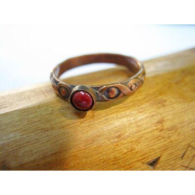 Rézfolyondár - tűzzománc és vörösréz gyűrű