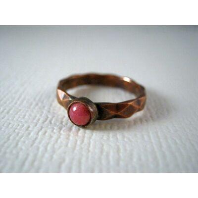 Páratlan rózsa - tűzzománc és vörösréz gyűrű