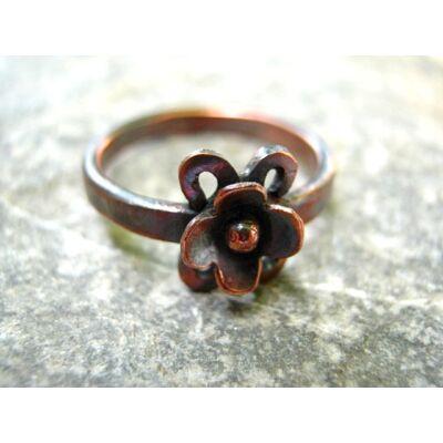 Rézerdő virágai - Kettős virágú - réz gyűrű