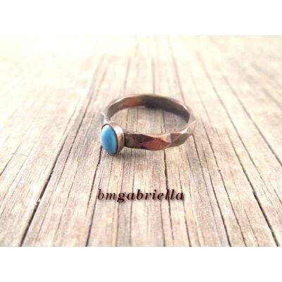 Télvíz - réz gyűrű türkizzel