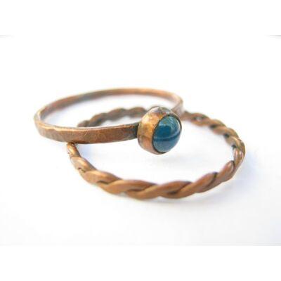 Tiszta víz - vörösréz gyűrű