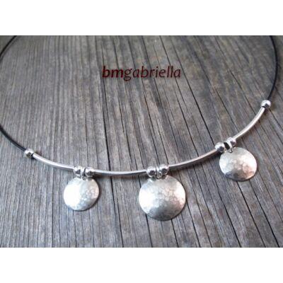 Hármas hold - ezüstözött és alpakka nyaklánc