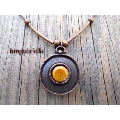 Avar korong - tűzzománc medál - egyedi tervezésű kézműves nyaklánc