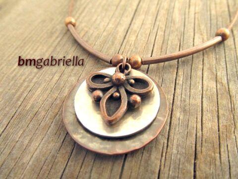 Levél - kézműves nyaklánc - magyar ékszer