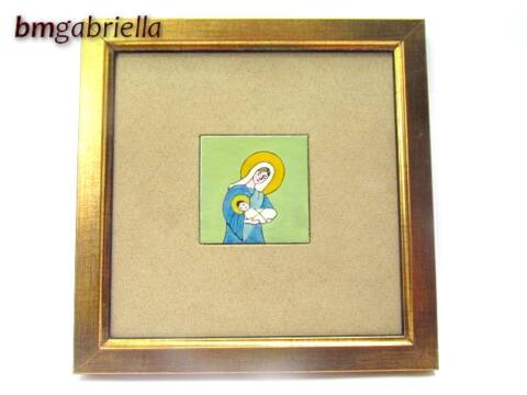 Mária - tűzzománc kép - falikép